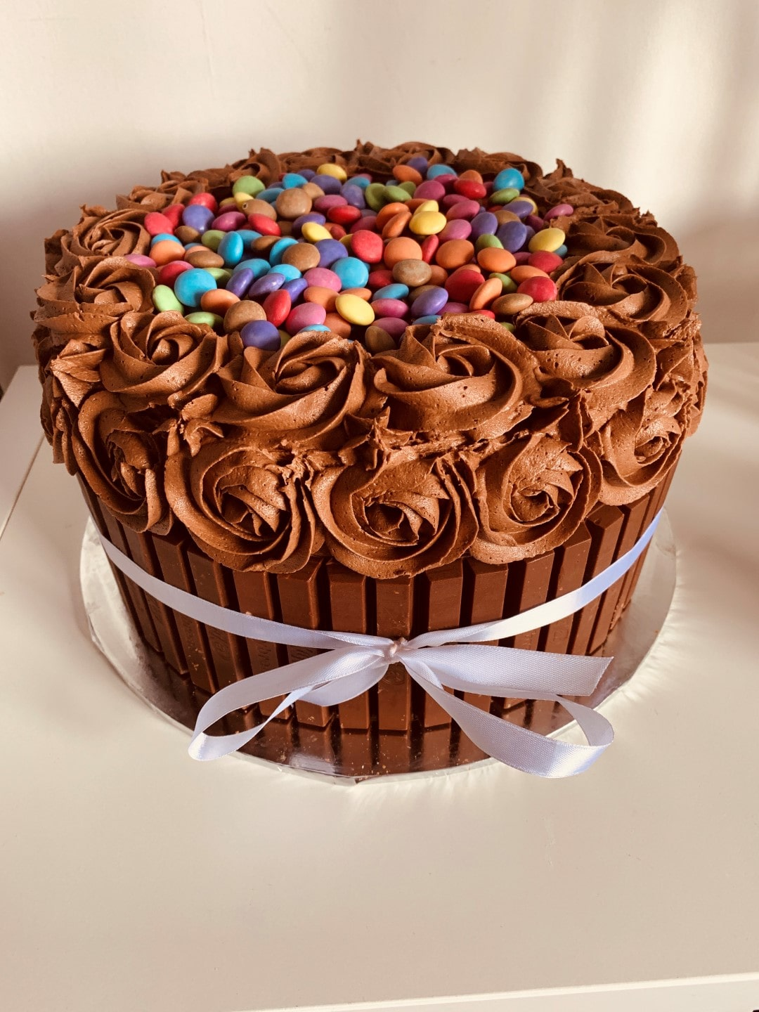 chocolate smarties cake